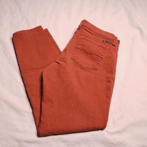 Lucky Brand Size 8 Rust Charlie Skinny Jeans